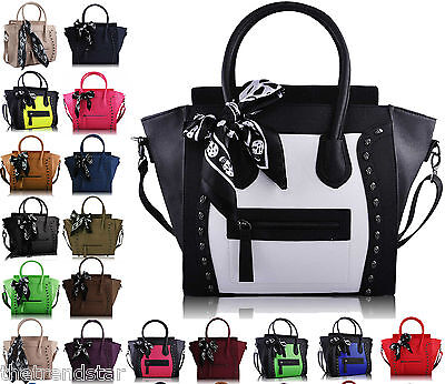Designer Handbag Faux Leather Celebrity Tote Smile Shoulder Satchel Ladies Bag ()