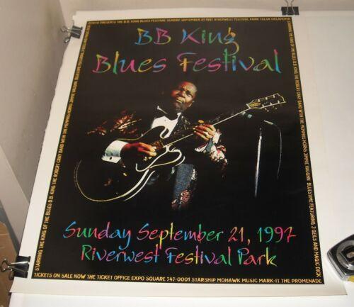 ROLLED 9/21 1997 BB KING BLUES FESTIVAL CONCERT POSTER RIVERWEST FESTIVAL PARK