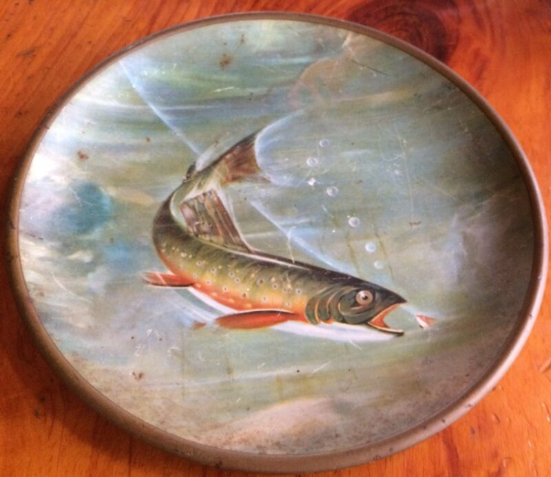 BEAUTIFUL ANTIQUE FLUE COVER BROOK TROUT FLY FISHING