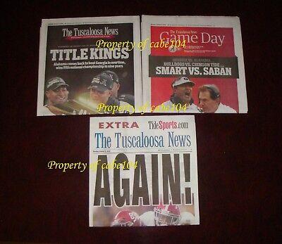 Alabama National Championship-Tuscaloosa News~TITLE KINGS,GAME DAY+AGAIN~1/9/18