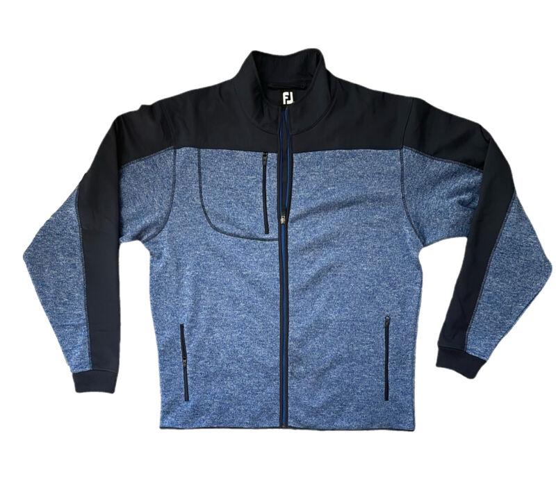 FootJoy FJ Sweater Jacket Navy Blue Golf Men's Full Zip Up Pockets size L