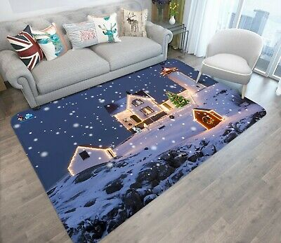 3D House Lighthouse N41 Christmas Game Rug Mat Elegant Photo Carpet Mat An ()