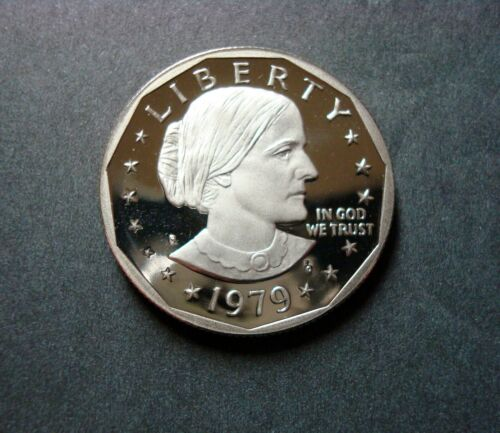 "1979-S GEM PROOF SUSAN B. ANTHONY DOLLAR ""TYPE ONE"" DEEP CAMEO FROM SEALED SET"