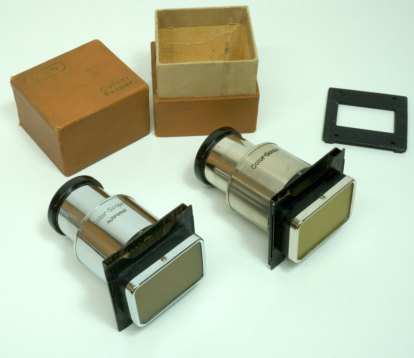 2 Stk. Diabetrachter CENEI Color scoper 1x Achromat in Originalverpackung Stereo