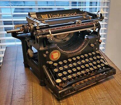 AMAZING Antique 1928 Underwood Standard No. 5 Vintage Typewriter #1299741