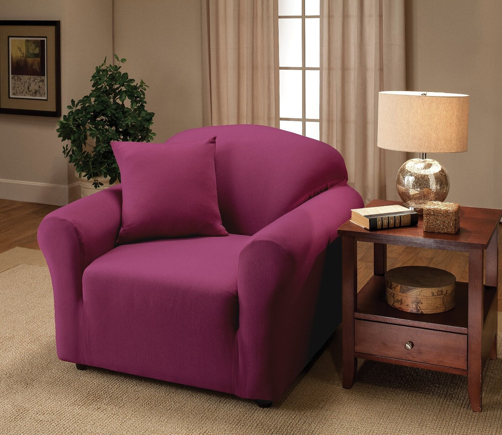 jersey purple chair slipcover also in sofa