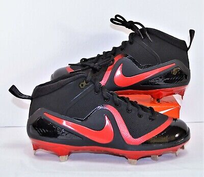 01380f74b7c Nike Force Zoom Trout 4 Black   Red Baseball Metal Cleats Sz 11.5 NEW 917837  066