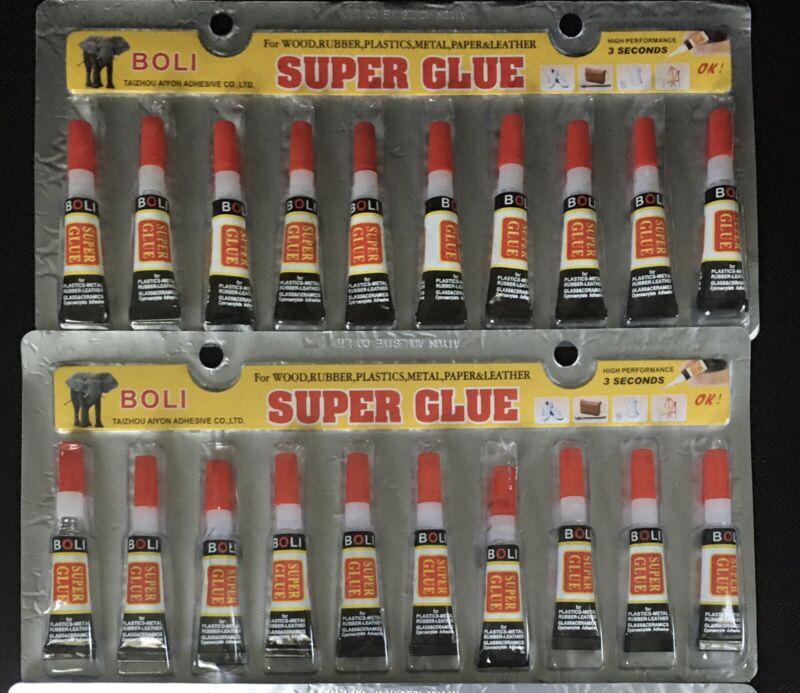 20 Super Glue Crazy Cyanoacrylate Adhesive All purpose Precision tip 2G Tubes