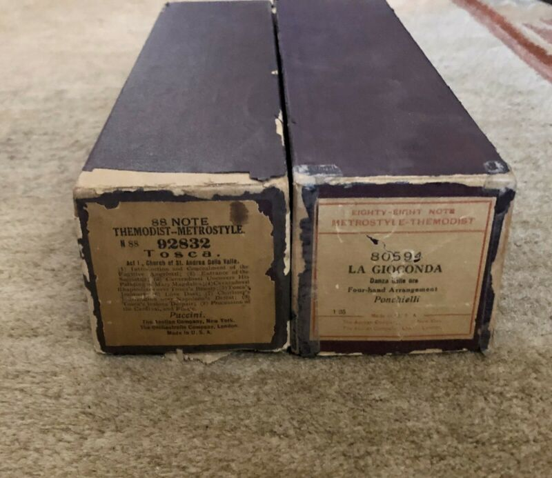 Lot of 2 The Modist-Metrostyle 88 Note Vintage Piano Song Music Rolls Italian