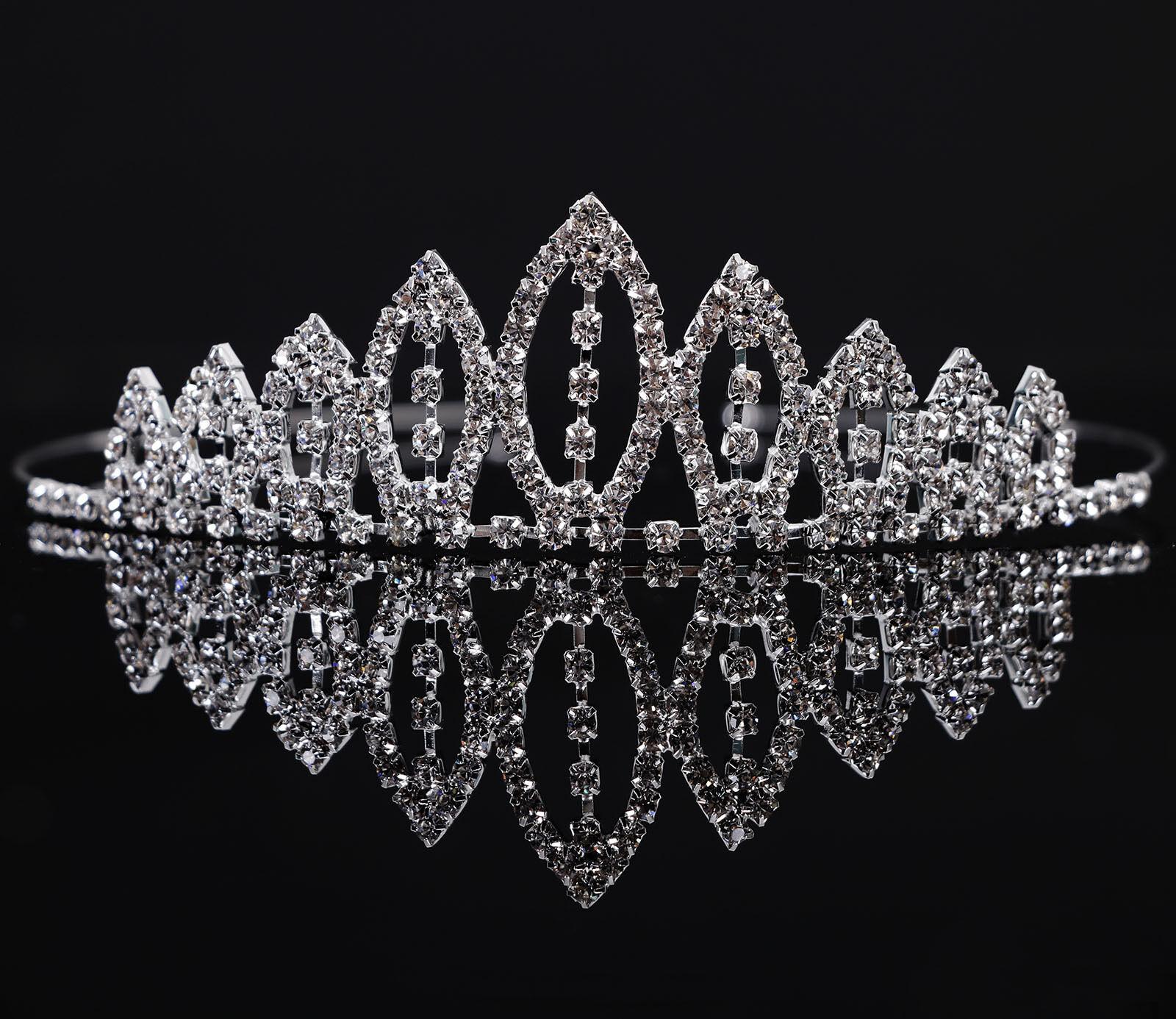 Girl's Rhinestone Tiara Crown Little Princess Sweet Hair A