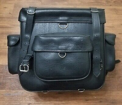 River Road Large Classic Sissy Bar Bag Cargo Saddle Leather Bag