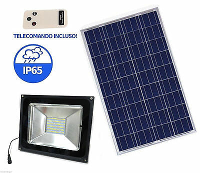 LIGHT LED 50W HIGH BRIGHTNESS SOLAR PANEL CREPUSCULAR REMOTE CONTROL SC0