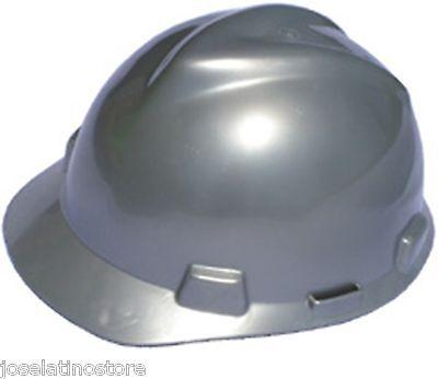 Msa Silver V Gard Cap Style Safety Hard Hat Ratchet Suspension New Fast Ship