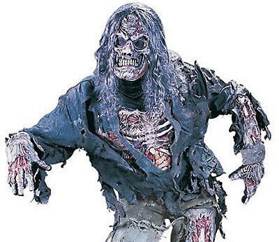 ★ Scary Zombie 3D Mens kostüm Ghost, Halloween Kostüm + Maske S-XL Walking Dead