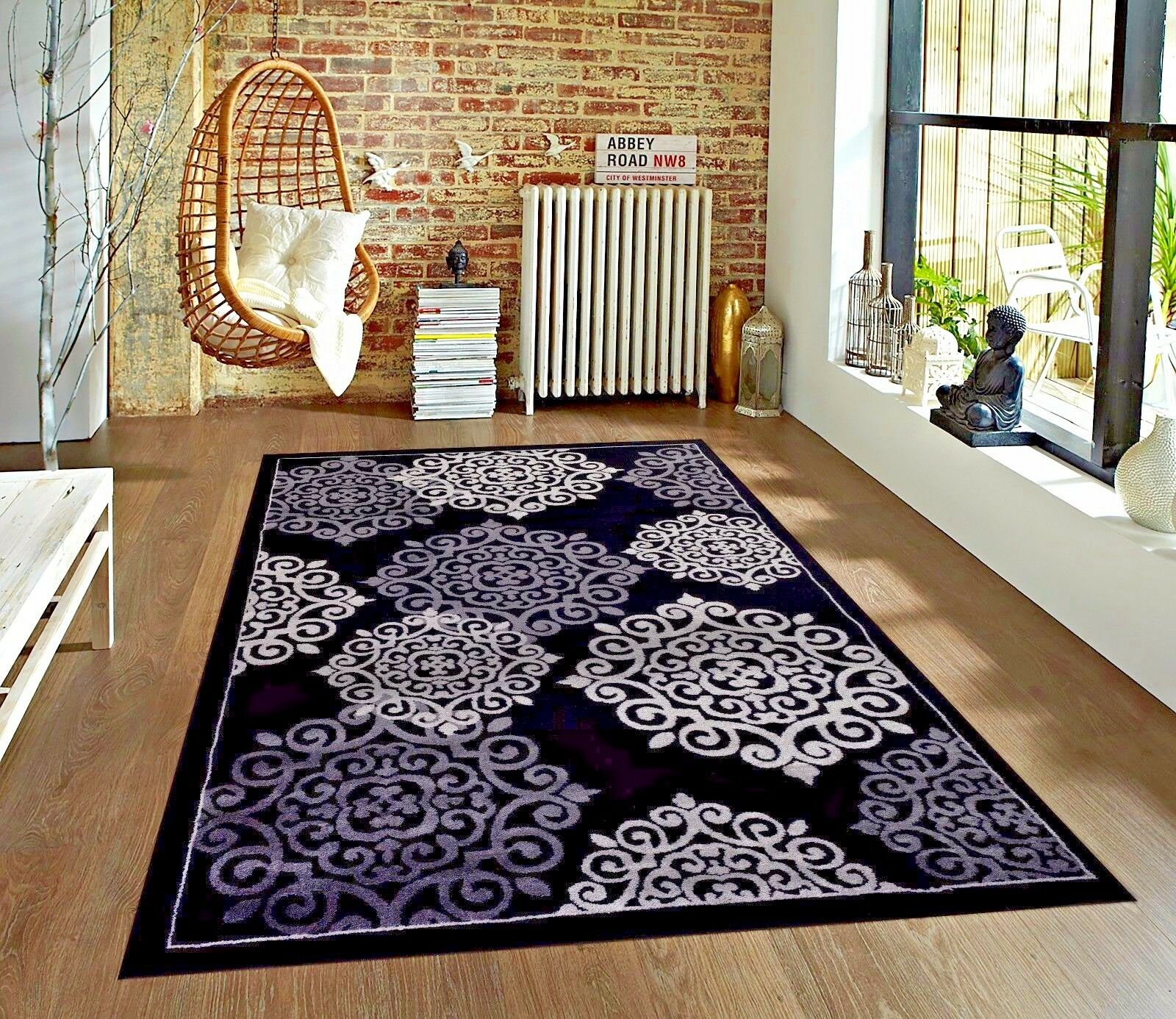 Living Room Rugs 5x7.Details About Rugs Area Rugs Carpets Area Rug Modern Floor Large Living Room Black 5x7 Rugs