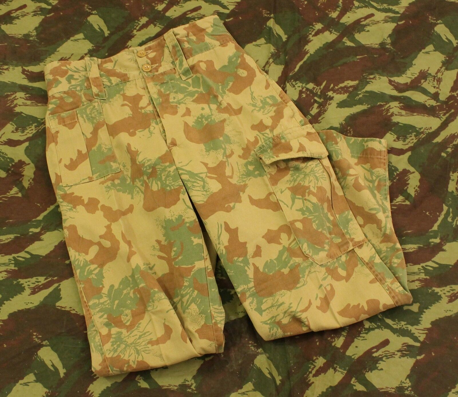 SAP South African Police Koevoet Camo Trousers 1980's Large 36' Waist 30' Length
