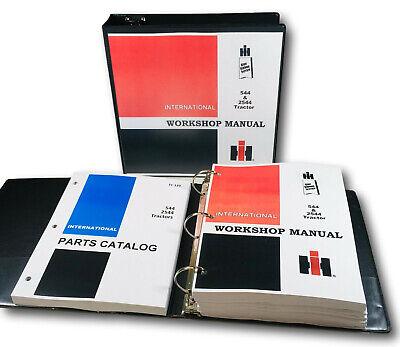 Farmall International 544 2544 Tractor Service Repair Manual Parts Catalog Set