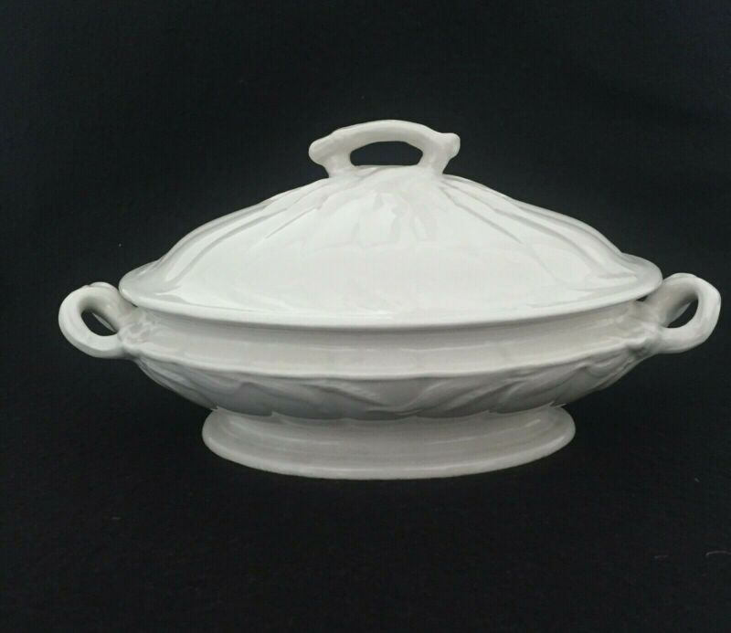 "WM Adams & Sons Ironstone, Covered 10"" Vegetable Dish Real English Ironstone"