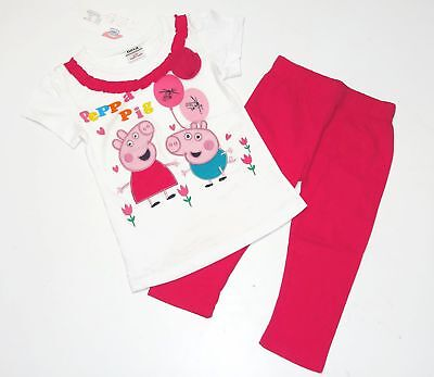 Peppa Pig Girl's Peppa and George Pants Set, Outfit, Ages 5-6 Years, New](George Pig Outfit)