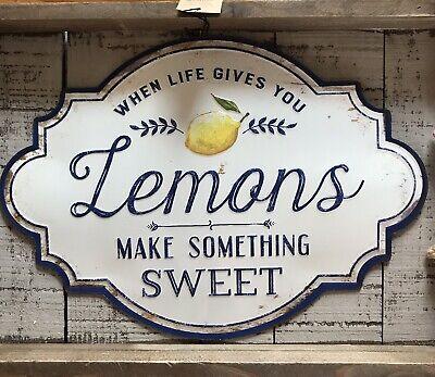 When Life Gives You Lemons Rusty Metal Tin Sign /Lemonade Lemon Farmhouse Decor](Lemonade Signs)