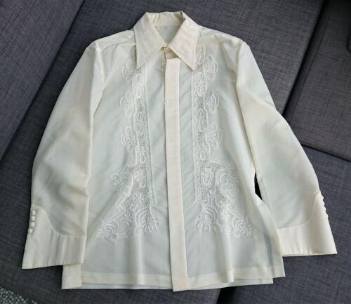 Barong Tagalog, Filipino Formal Shirt, Size M