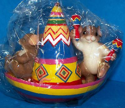Charming Tails Fiesta Till Ya Siesta 82/119 Fitz & Floyd Mice Sleeping/Partying