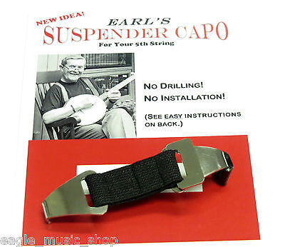 Banjo Capo Earls Suspender Capo For Your Banjos Fifth String