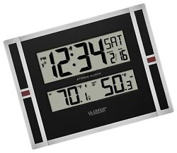 La Crosse Technology 513-149-INT 11 inch Atomic Digital Wall Clock with Tempe...