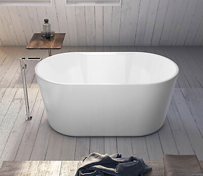 Modern Bathtub Oval Freestanding Tub - Acrylic Soaking Tub - Toscella 55.5""