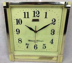 Vintage Beltz W Germany Musical Wall Clock Mid Century Modern Lullabies Kid Song