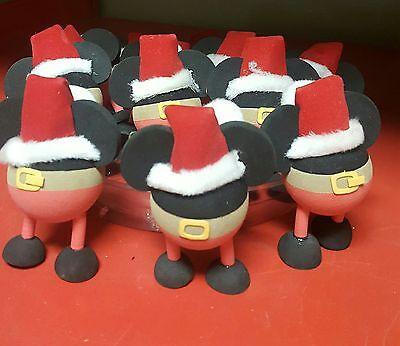 Disneyland Mickey Santa Christmas Antenna Ball Topper  New