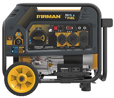 Firman Hybrid Series H03651 3650/4550 Watt Dual Fuel Generator w/Electric Start