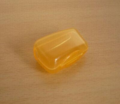 Geel-oranje transparante tandenborstel houder beschermer  NIEUW