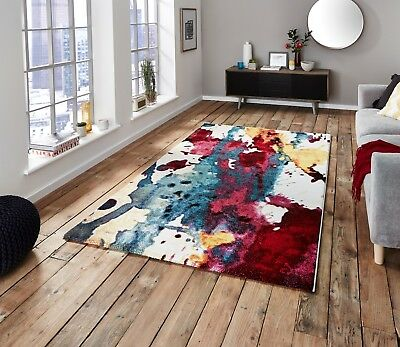 MODERN RUG HIGH QUALITY BRIGHT MULTI COLOUR  FLOOR CARPET RUGS SIZE M - LARGE