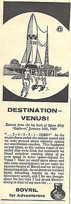 Bovril Advert - Destination Venus - Original 1960