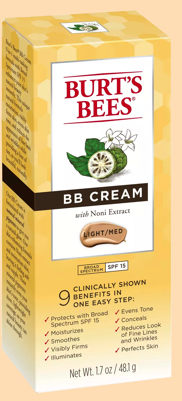 BB Cream Light/Medium SPF 15 Burt's Bees 1.7 oz Cream