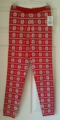 Junior Sweater Legging Red Snowflake Medium M Winter Warm