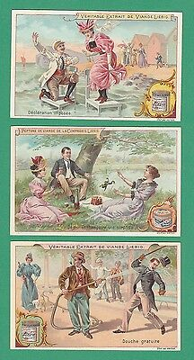LIEBIG - SET OF 6 CARDS -  S 605  /  F 605  - SURPRISING  SITUATIONS (F) -  1899