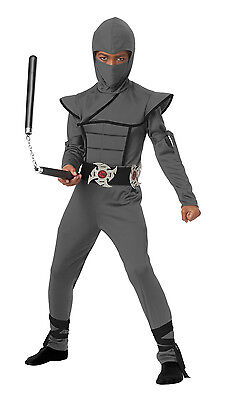 Stealth Ninja Japanese Samurai Boys Child Costume (Gray) (Japanese Samurai Costumes)
