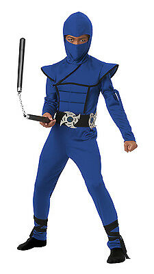 Japanese Samurai Stealth Ninja Boys Child Costume (Blue) (Japanese Samurai Costumes)