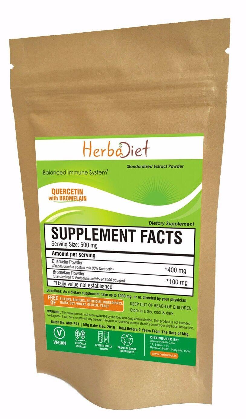 Quercetin with Bromelain Extract Powder Immune Health Antioxidant Cardio Support