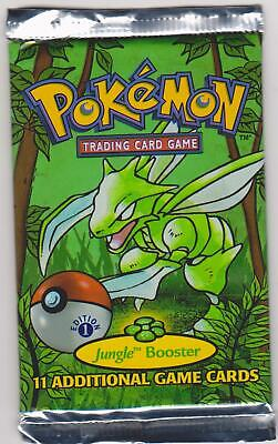 Pokemon 1st Edition Jungle Sealed Booster Pack Scyther artwork Weighed Heavy
