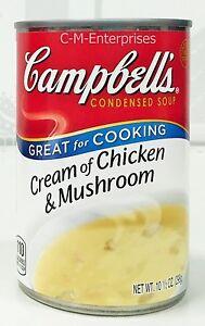 Campbells Cream Of Chicken Mushroom Condensed Soup 10 5 Oz