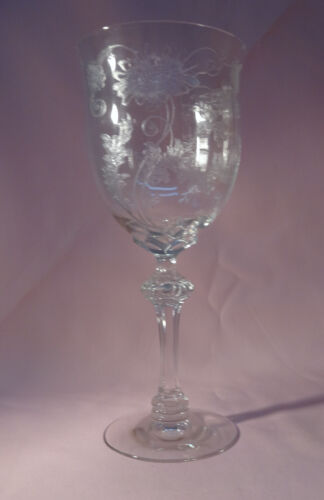 """Fostoria DAISY (ETCHED) 1 Water Goblet 7 3/4"""""""