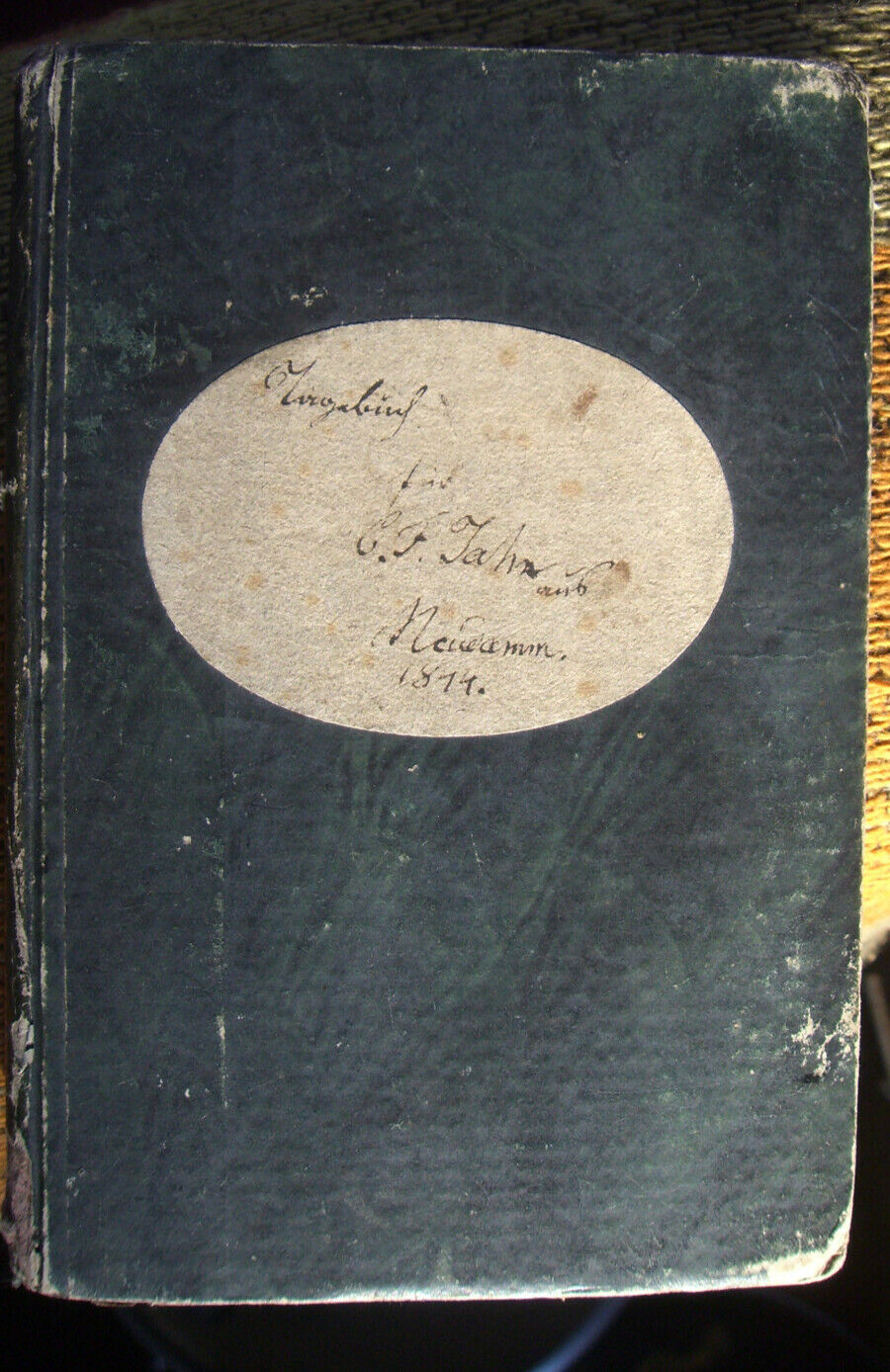 Original Handschrift von C.F.Jahn, Tagebuch von 1844, 10x15,5cm + Reprint 1985