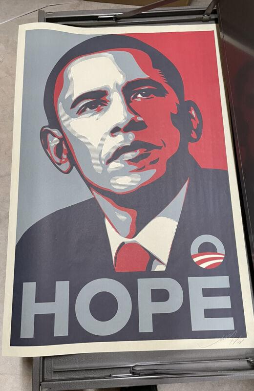 Shepard Fairey Obama Hope Signed Art Print Poster