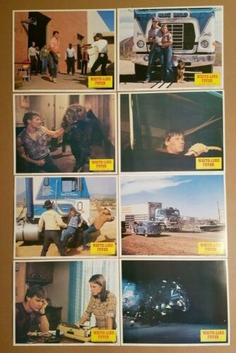WHITE LINE FEVER 1975 COMPLETE 11x14 Lobby Card Set 8 Jan-Michael Vincent 75/158