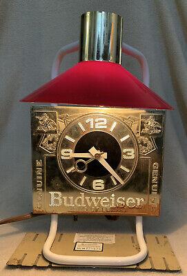 Vintage Anheuser Busch Budweiser King of Beers Clock Light Cash Register Topper