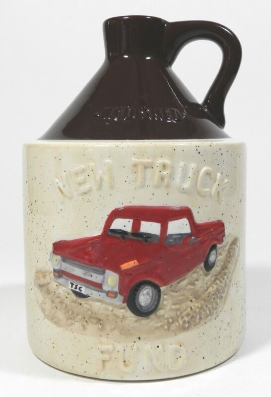 Pottery Stoneware Jug Coin Bank By Red Shed