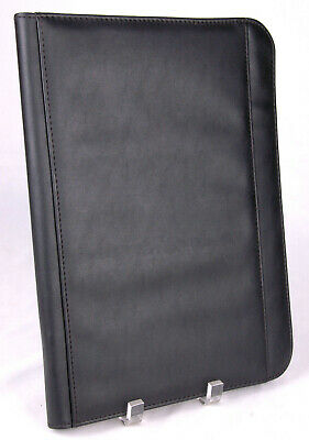 Plannerbinder-seville-black-faux Leather-13.5x10-zipper-pockets-cgfoa 2014